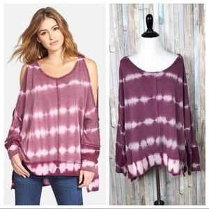 Free People M Cold Shoulder Dandyline Pullover Top